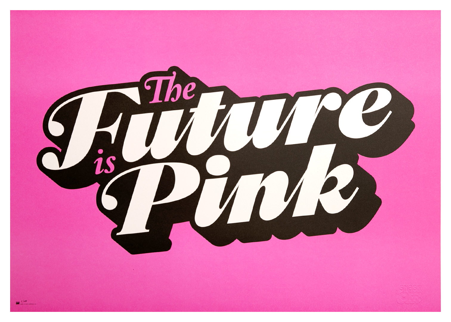 "Image of Poster: ""The Future is Pink"""