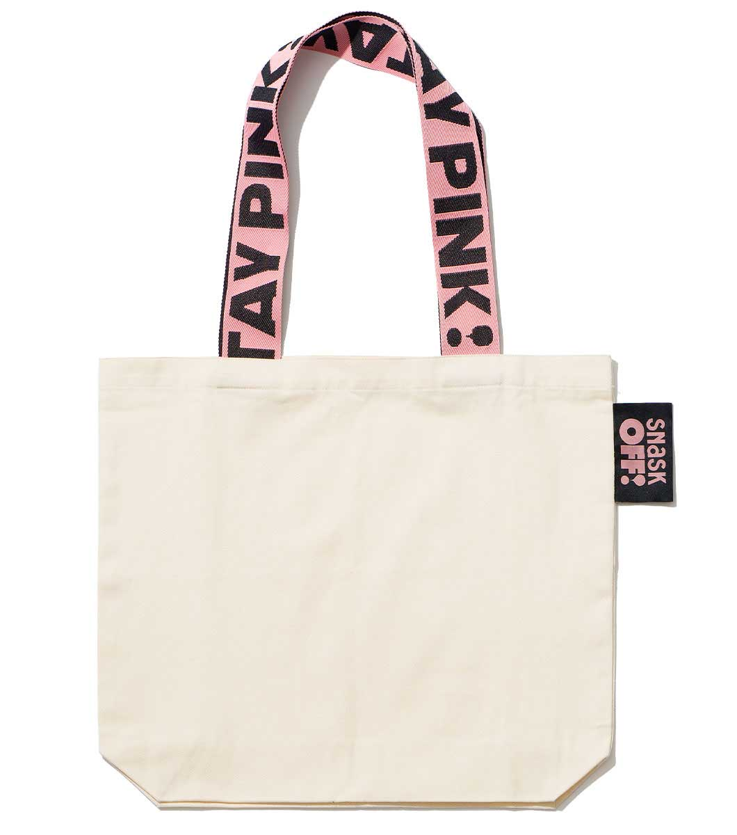 Image of Stay Pink Strap Bag White